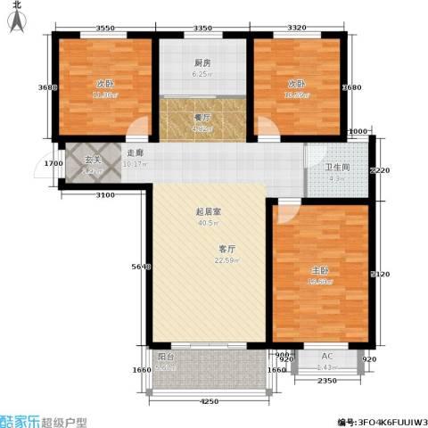 安泰诚品3室0厅1卫1厨110.00㎡户型图