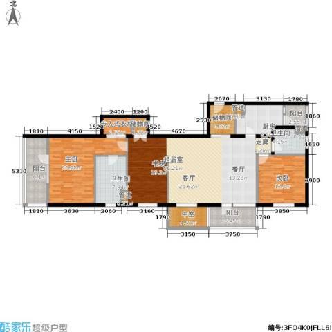 朗诗虹桥绿郡2室0厅2卫1厨153.00㎡户型图