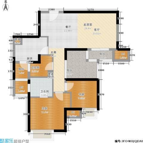 盘古天地2室0厅2卫1厨88.00㎡户型图
