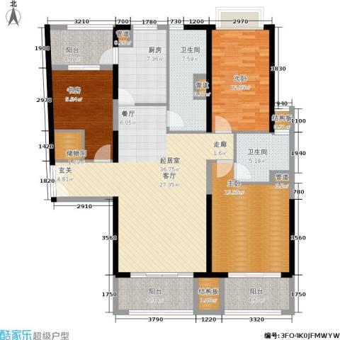黄浦逸城3室0厅2卫1厨133.00㎡户型图