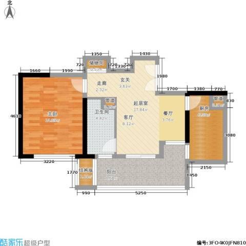 黄浦逸城1室0厅1卫1厨64.00㎡户型图
