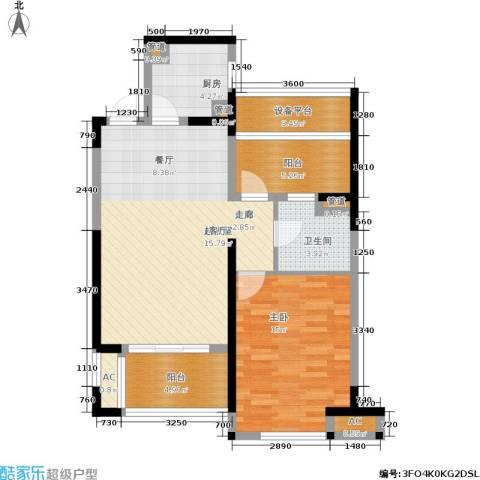 嘉宝梦之湾1室0厅1卫1厨77.00㎡户型图