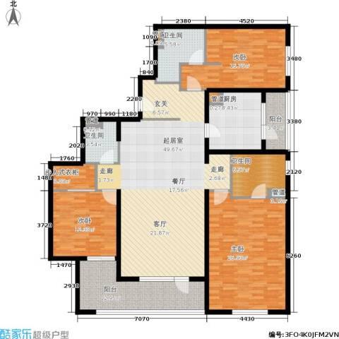 朗诗虹桥绿郡3室0厅3卫1厨167.00㎡户型图