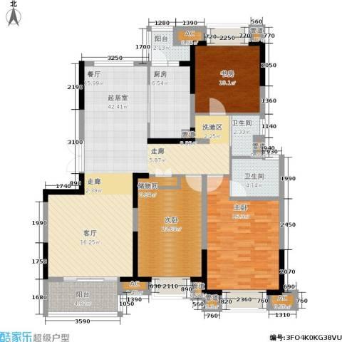 同济城市阳光3室0厅2卫1厨121.00㎡户型图