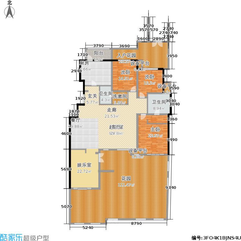鞍山华润橡树湾二期洋房1层户型