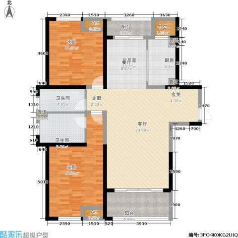 嘉宝梦之湾2室0厅2卫1厨122.00㎡户型图