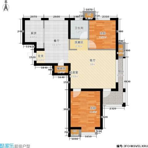 丹田医居社区2室0厅1卫1厨98.00㎡户型图