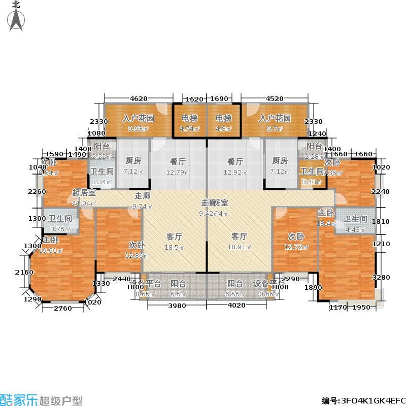 龙光普罗旺斯130.39㎡郁金香庄园6#3单元02033室户型