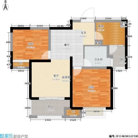 同济城市阳光2室0厅1卫1厨82.00㎡户型图