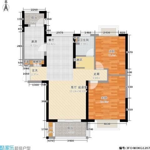 同济城市阳光2室0厅1卫1厨94.00㎡户型图