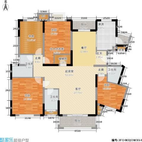 信达郡庭4室0厅3卫1厨163.00㎡户型图