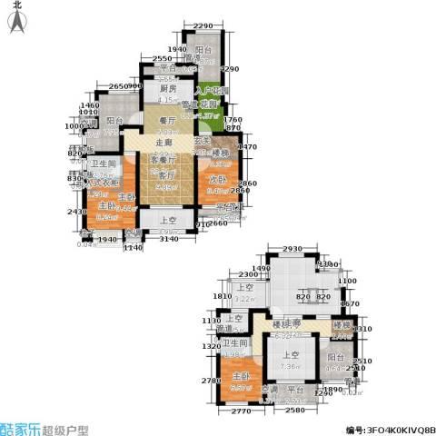 新城馥华里3室1厅2卫1厨144.00㎡户型图