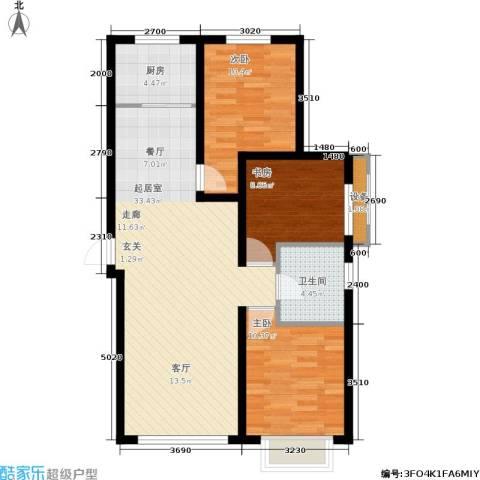 御龙湾3室0厅1卫1厨113.00㎡户型图