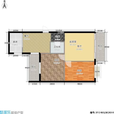 佳馨花园二期2室0厅1卫1厨90.00㎡户型图