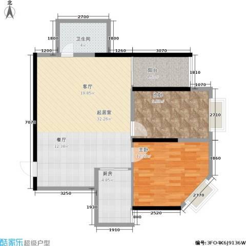 欧亚大厦(经开观澜港)2室0厅1卫1厨75.22㎡户型图