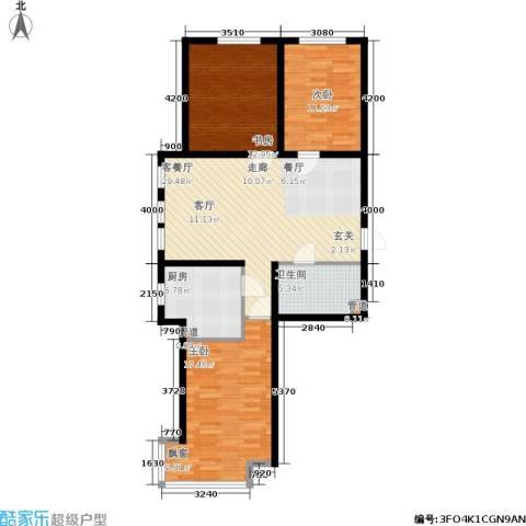 领世城邦3室1厅1卫1厨118.00㎡户型图