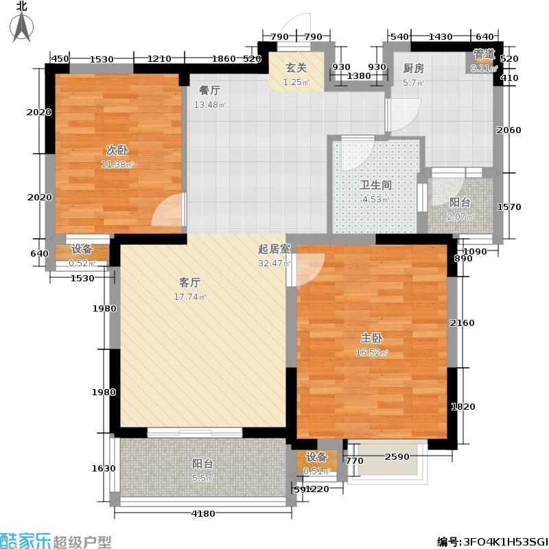 中央城91.00㎡D10#楼K户型