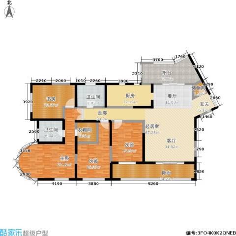 浦江海景4室0厅2卫0厨213.00㎡户型图