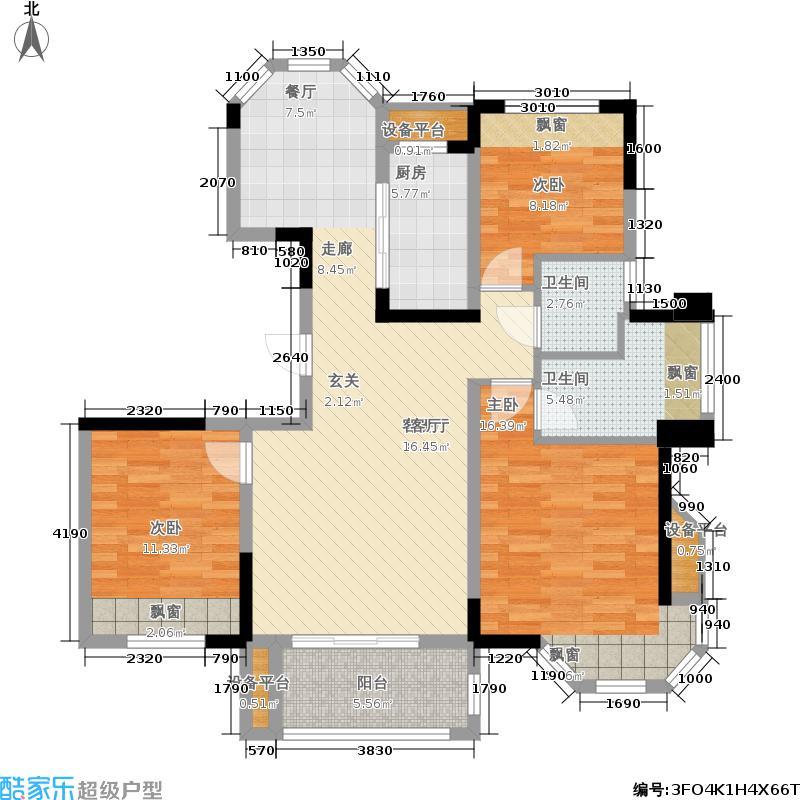 金浩仁和天地120.00㎡17#楼C2户型