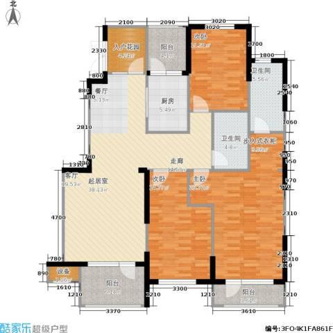 希望廊桥郡3室0厅2卫1厨140.00㎡户型图