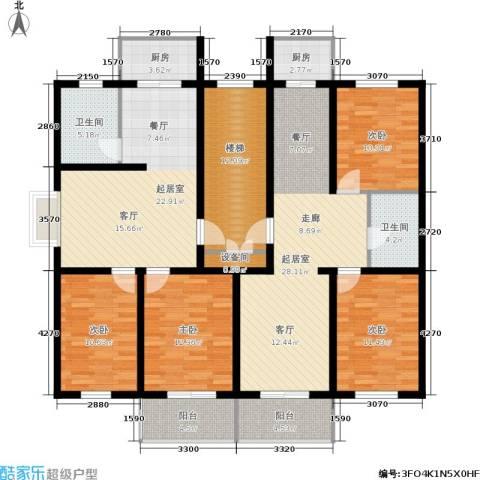 繁兴花苑4室0厅2卫2厨191.00㎡户型图