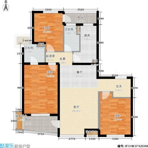 万象后街3室0厅2卫1厨141.00㎡户型图