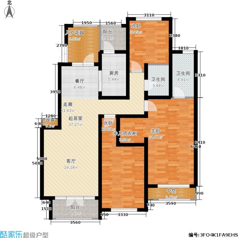 希望廊桥郡153.07㎡一期171921号楼1-6层1820号楼1-5层C4户型