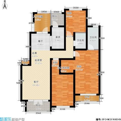 希望廊桥郡3室0厅2卫1厨153.00㎡户型图