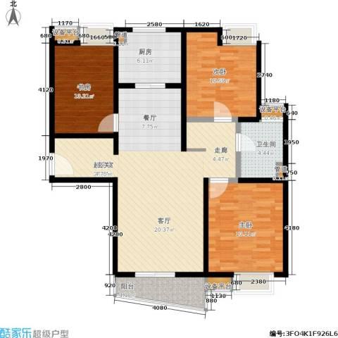 万象后街3室0厅1卫1厨127.00㎡户型图