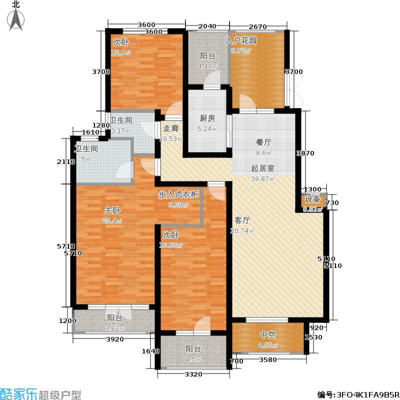希望廊桥郡162.36㎡一期171921号楼1-6层1820号楼1-5层C3户型