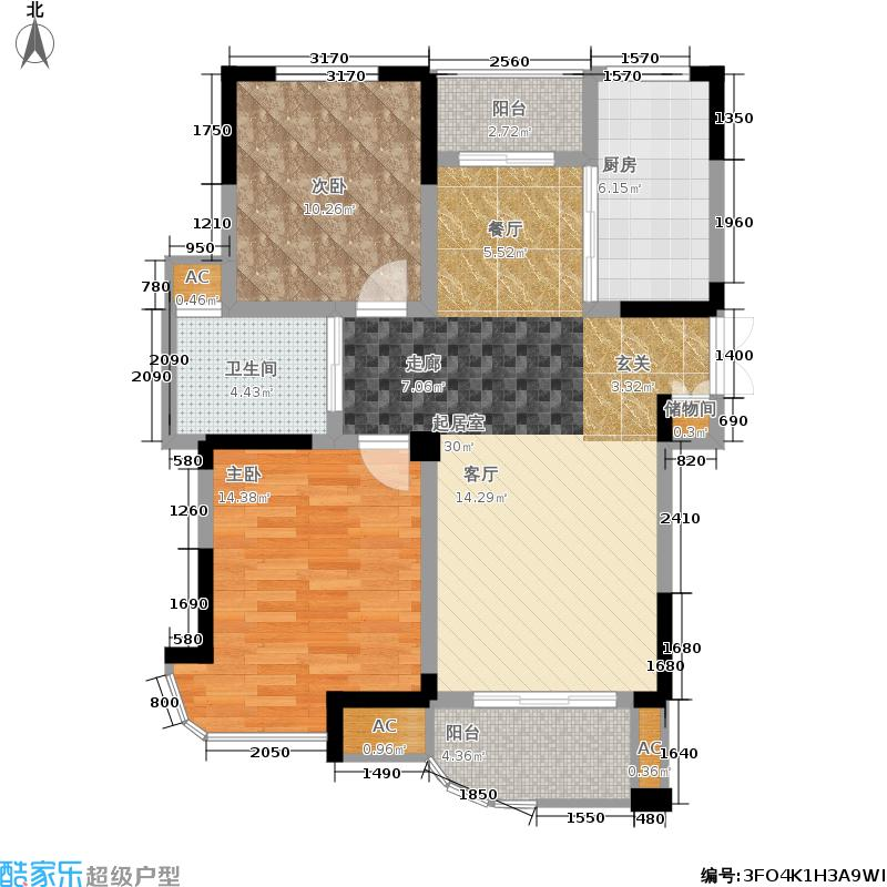 龙湖春天3.20㎡32期43#、44#楼A1户型