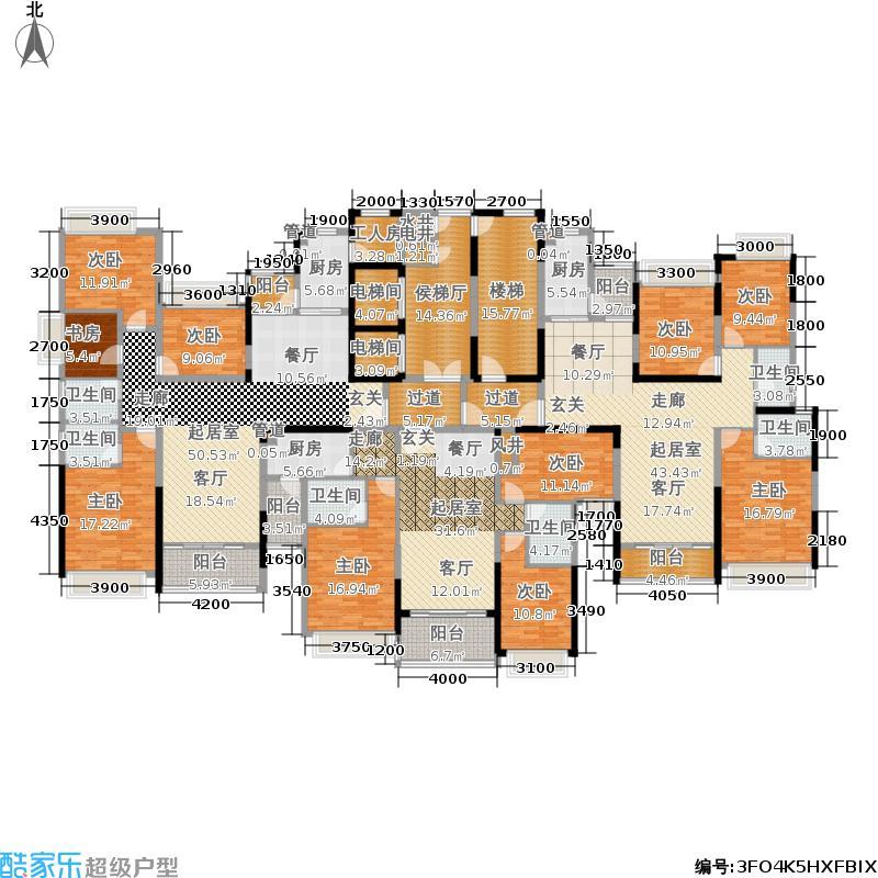 恒大名都55-1#栋4-32层平面示意图户型