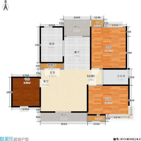 雨山美地3室1厅1卫1厨111.00㎡户型图