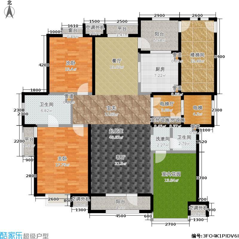 五矿·铭品136.12㎡五矿铭品C1&apos户型3室2厅
