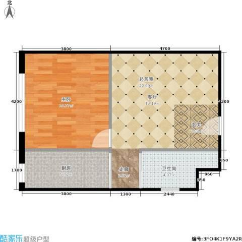 新星宇和悦1室0厅1卫1厨62.00㎡户型图