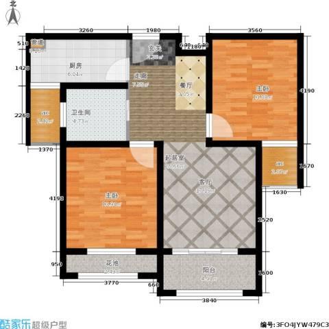 伟业迎春世家2室0厅1卫1厨88.00㎡户型图