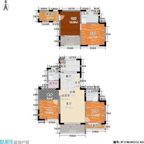 中粮南桥半岛4室0厅3卫1厨148.00㎡户型图