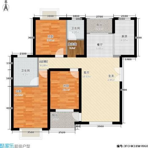 松石国际城3室0厅2卫1厨131.00㎡户型图