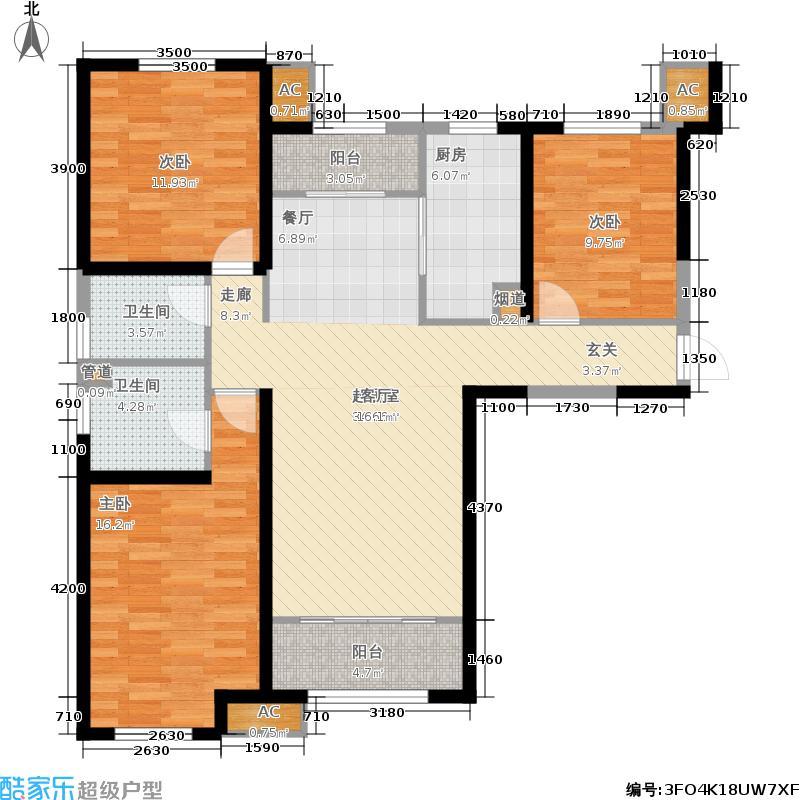 茂华唐山中心203号楼标准层C2户型