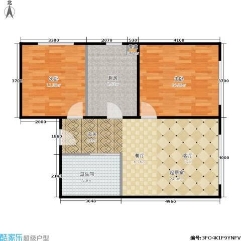 新星宇和悦2室0厅1卫1厨86.00㎡户型图