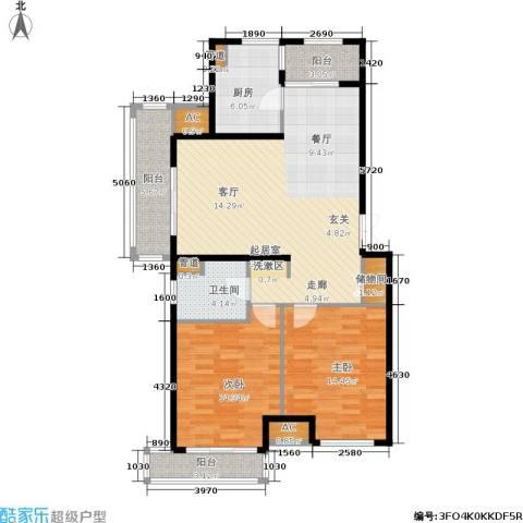 浦江坤庭2室0厅1卫1厨99.00㎡户型图