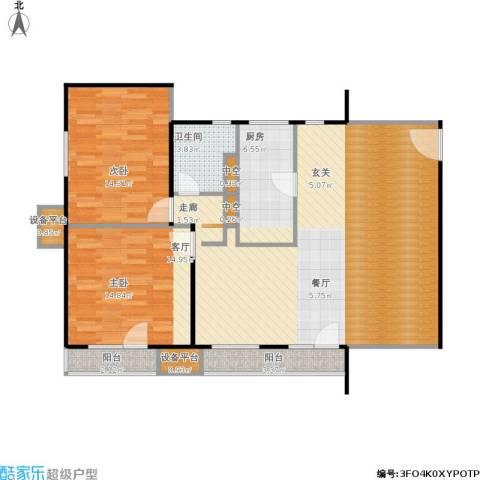 万科金阳国际公寓2室1厅1卫1厨99.21㎡户型图
