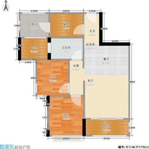 梦云南・雨林澜山2室0厅1卫1厨81.00㎡户型图
