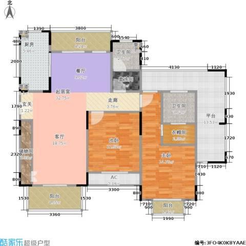 乾耀东港2室0厅2卫1厨123.00㎡户型图