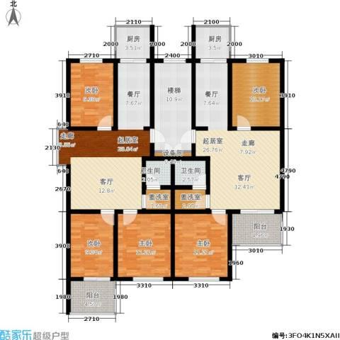 繁兴花苑5室0厅2卫2厨206.00㎡户型图