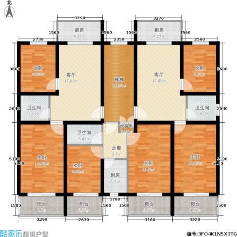 繁兴花苑6室2厅3卫3厨225.00㎡户型图