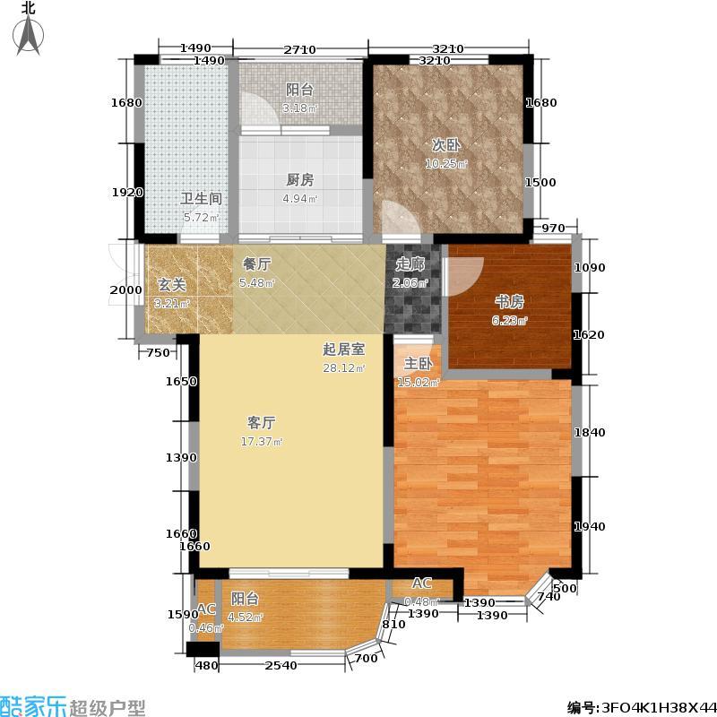 龙湖春天3.20㎡32期39#、45#楼X1户型