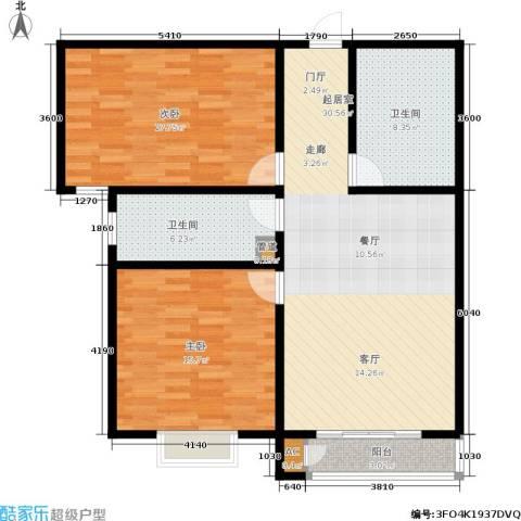 博鑫翰城2室0厅2卫0厨115.00㎡户型图