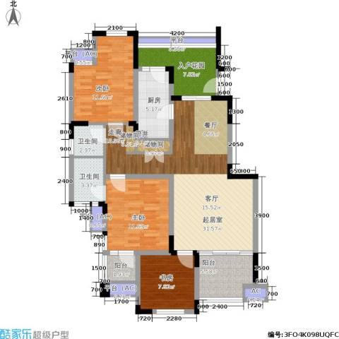 朗香郡 旭辉新里城 新里城3室0厅2卫1厨94.00㎡户型图