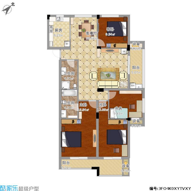 大通佳苑143方四室两厅二卫